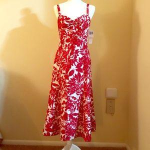 Maggy London silk floral dress.